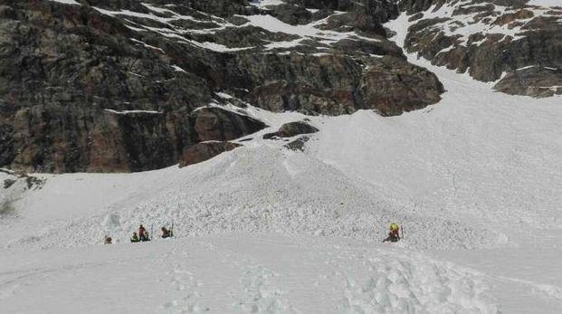Valanga sul Bernina