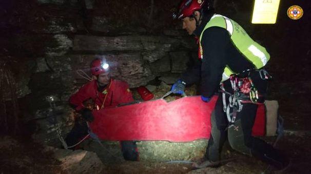 I soccorritori nella grotta