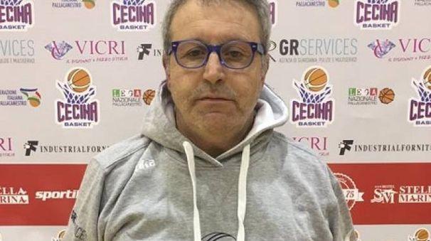 Gianni Montemurro, allenatore del Basket Cecina
