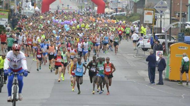 La partenza della Maratonina in Sant'Agostino