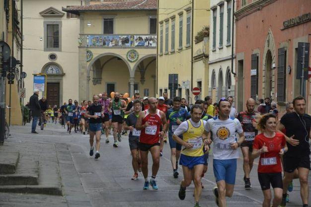 La partenza della Maratonina in Sant'Agostino (Foto Quartieri)