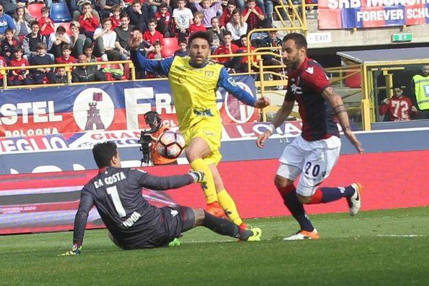 Il gol di Castro al 40' (foto Ansa)