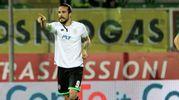 Rodriguez esulta per il gol della vittoria al 61 (foto Ravaglia)