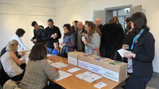 I votanti alle urne