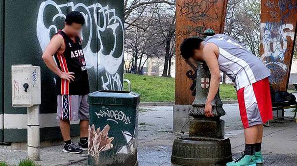 Graffiti sfregiano tutti i locali (Newpress)