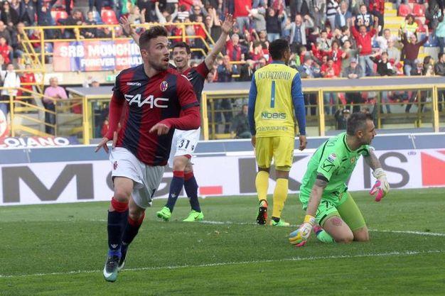 Bologna-Chievo 4-1, Di Francesco (Ansa)