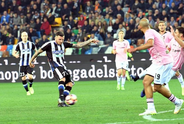 Udienese-Palermo 1-1, Thereau (Ansa)