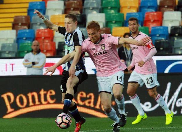 Udinese-Palermo 4-1, Jankto (Ansa)