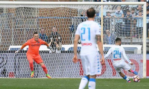 Empoli-Napoli 0-3, Insigne (Ansa)