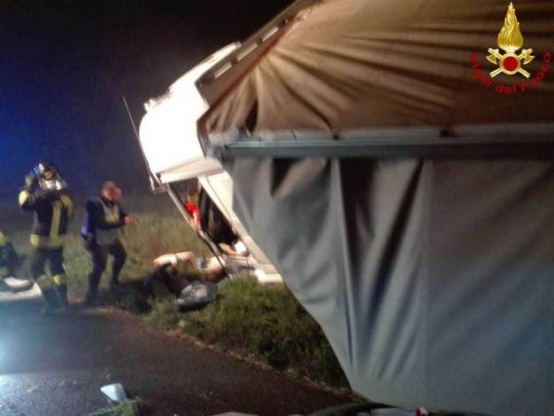 Un'altra foto dell'incidente