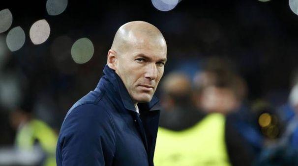 Zinedine Zidane, allenatore del Real Madrid