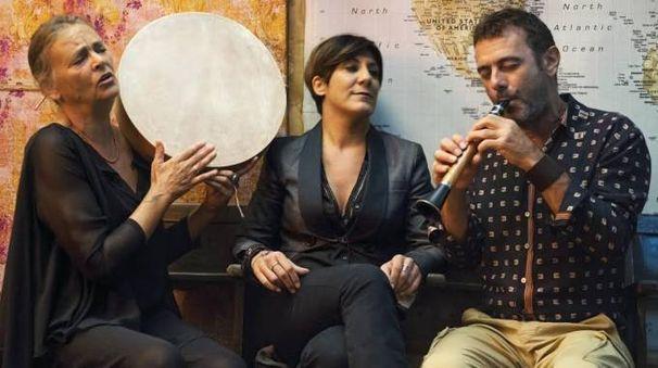 I tre artisti in scena