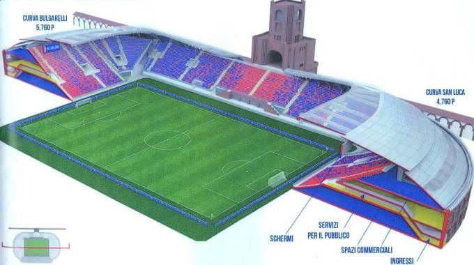 Come sarà il nuovo stadio Dall'Ara