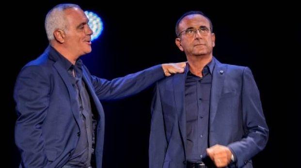 Giorgio Panariello e  Carlo Conti