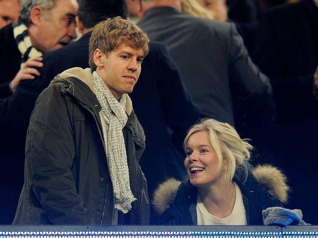 Sebastian Vettel e sua moglie, Hanna Prater (Afp)