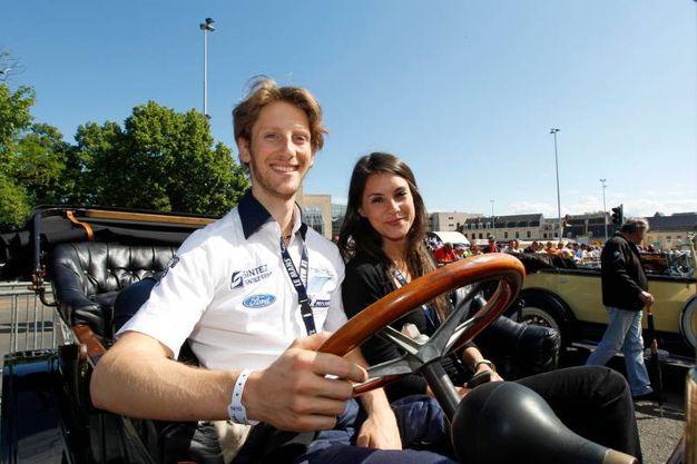 Grosjean e sua moglie Marion stanno insieme dal 2008 e hanno due figlie (LaPresse)
