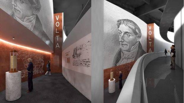Così si presenterà lo spazio dedicato ad Alessandro Volta ad Astana