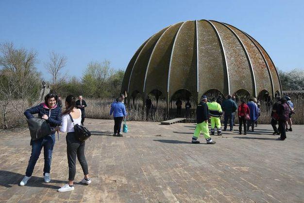 La cupola della discoteca di 16 metri di diametro (foto Zani)