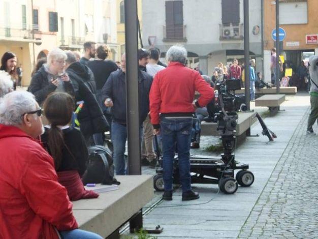 Le riprese del film a Poviglio