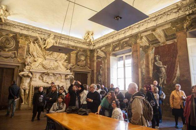 Una meravigliosa sala di Palazzo Fantuzzi (foto Schicchi)