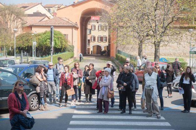 La visita al complesso del Baraccano (foto Schicchi)
