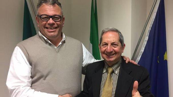 Chicco Zucchi con Carlo Fatuzzo del Partito dei pensionati