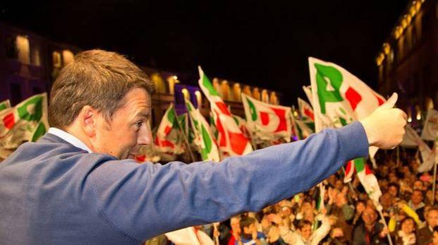 Matteo Renzi a Cesena nel 2014