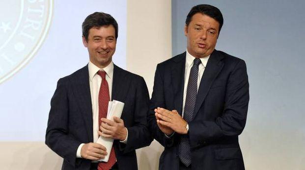Andrea Orlando e Matteo Renzi