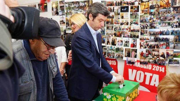 Il ministro Orlando al voto (Frascatore)