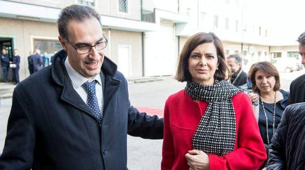 Il direttore Massimo Parisi con la presidente della Camera Laura Boldrini