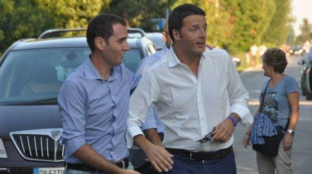 Il deputato Pd Marco Di Maio e Matteo Rnezi