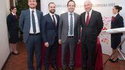 Da sinistra, Mehmet Ertugrul Aktan, Ahmet Halid Kutluoglu, Omer Faruk Sonmez e Andrea Riffeser Monti (foto Schicchi)
