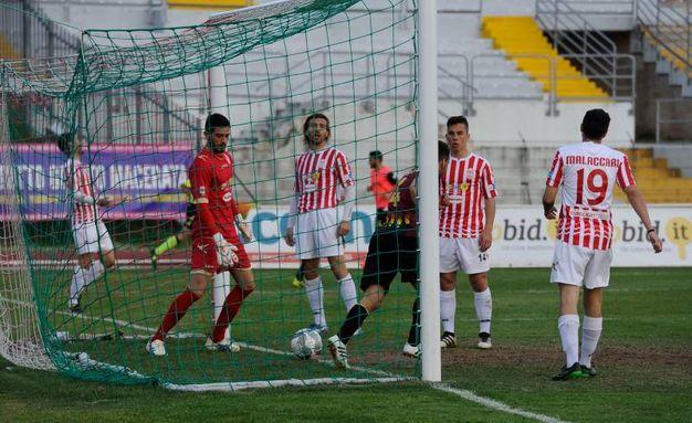 Il gol del Bassano (Calavita)