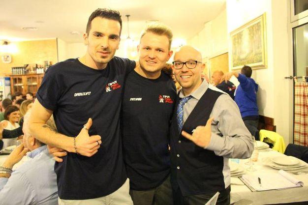 Team Piega Racing: Fanelli, Fatmir Ali e Boris Casadio (foto Ottaviani)