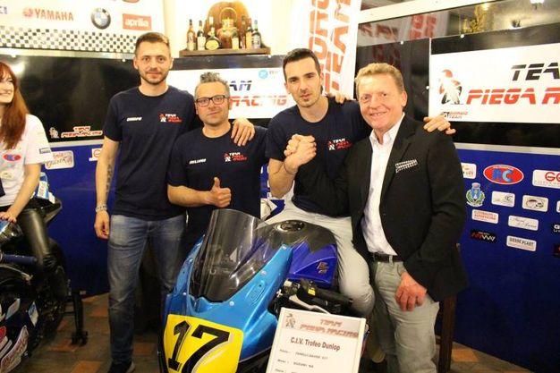 Team Piega Racing: lo sponsor Luciano Farinelli  (foto Ottaviani)