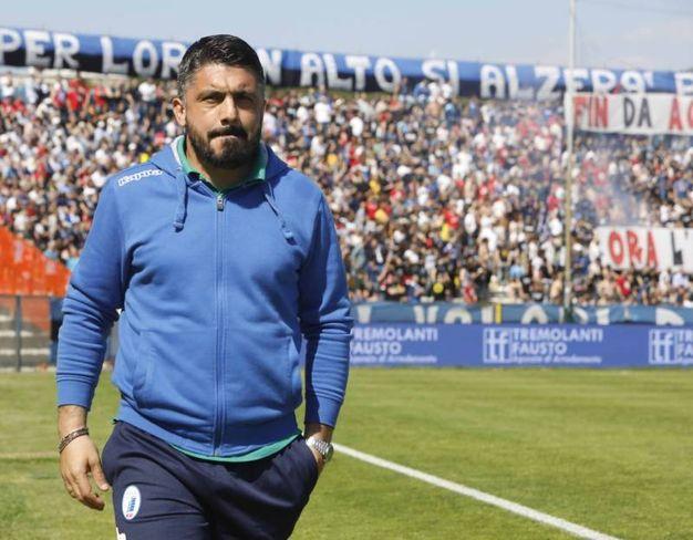 Gennaro Gattuso entra all'Arena Garibaldi-Romeo Anconetani (foto LaPresse)