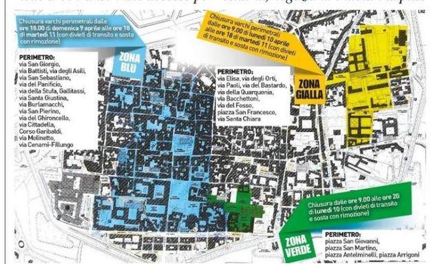 La mappa delle zone off limits