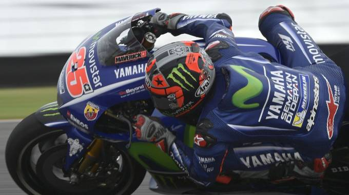Maverick Vinales primo nel warm up in Argentina (Afp)