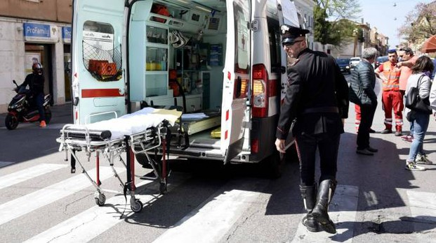 L'incidente di ieri mattina (foto Businesspress)