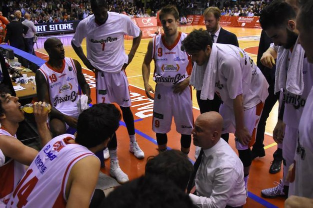Time out per la Grissin Bon (foto Artioli)