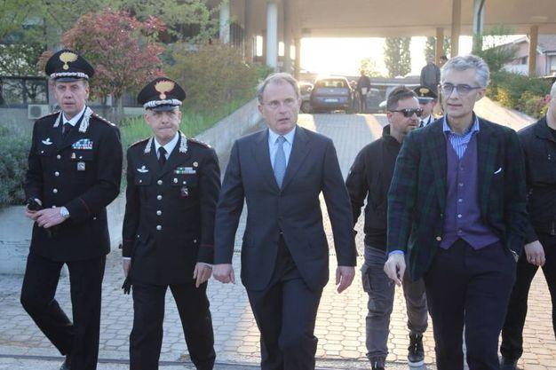 L'arrivo del procuratore di Ferrara, Bruno Cherchi (Foto Schicchi)