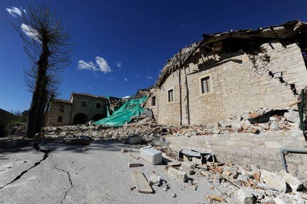 Si vede solo distruzione intorno alle sorgenti del Nera (Foto Calavita)