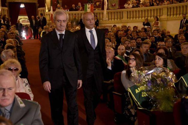 Il prefetto Michele Tortora e il questore Antonio Sbordone (foto Businesspress)