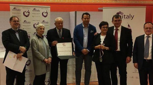 L'azienda vinicola 'Poderi Capecci San Savino' premiata con il 'Cangrande'