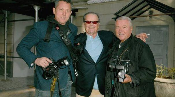 Arnaldo e Mario Magnani assieme all'amico Jack Nicholson