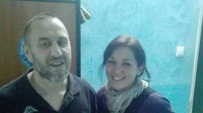 Uno dei rari sorrisi di Cristian in Mauritania, con la visita della compagna Alessandra