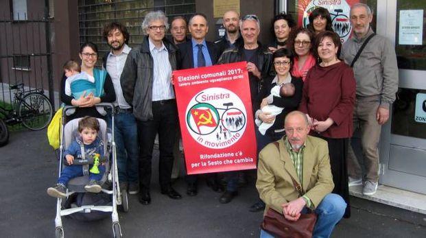 I membri della lista di Rifondazione Comunista a Sesto