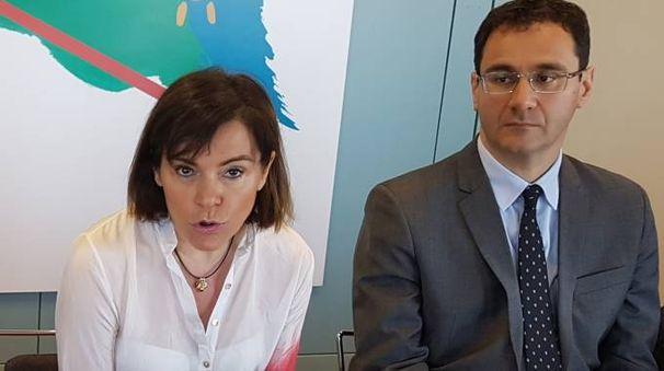 Da sinistra, la vicepresidente della Regione, Elisabetta Gualmini e l'assessore imolese Roberto Visani