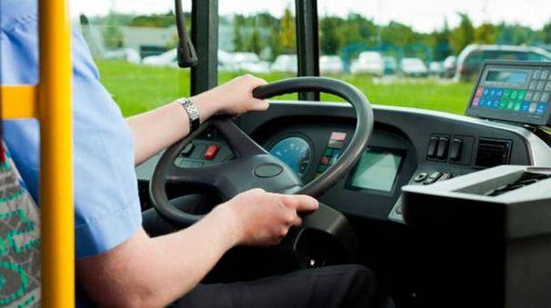 Un autista alla guida