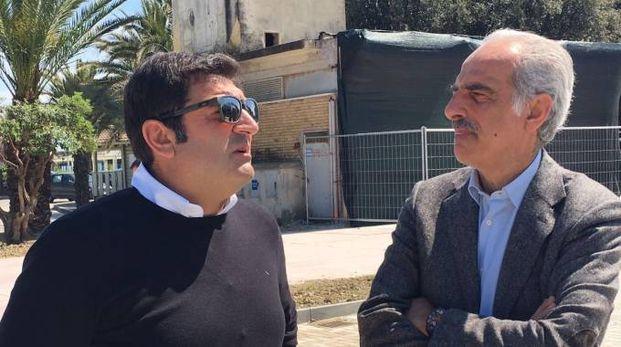 Max Giusti col vicesindaco Silenzi (foto De Marco)